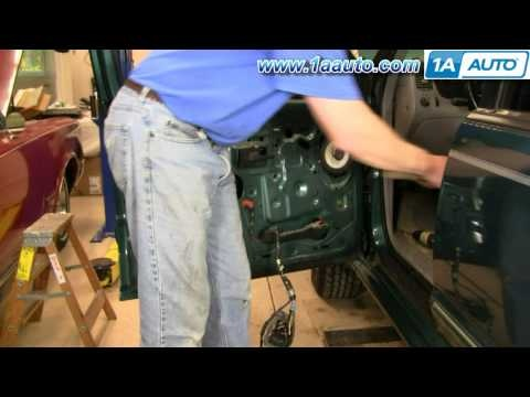 How To Install Replace Power Window Regulator Ford ...