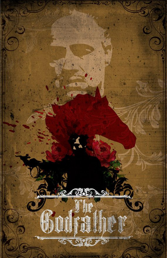 Godfather Movie Poster Print 11X17 by sanasini on Etsy