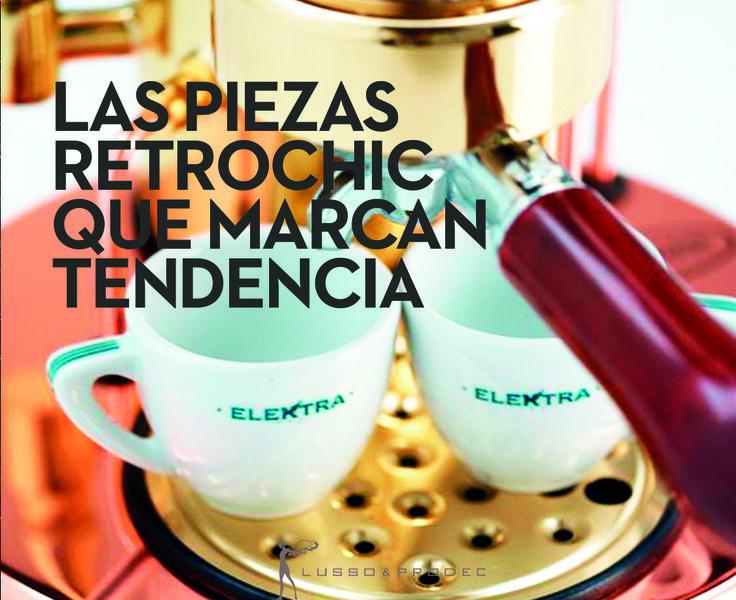 Las piezas #retrochic, claves en la decoración de esta primavera ¡Descubre los objetos de diseño que ya han llegado a los hogares más sibaritas! http://www.vidapremium.com/cafeteras-de-lujo-elektra-1363.htm#1 @vidapremium #interiorismo #decoracion #retrochic #tendencia #primavera #gadget #cafetera #cafe #coffee #Elektra #LussoProdec