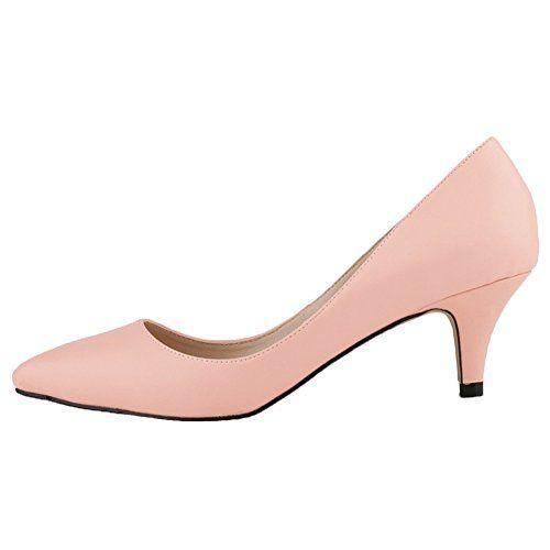 HooH Damen Matte Rutsch Süßigkeit Farben Büro-Dame Mary Jane Arbeit Pumps-Rosa-40 - http://on-line-kaufen.de/hooh/40-eu-hooh-damen-matte-rutsch-suessigkeit-farben-3