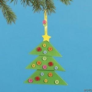 Adorno árbol de navidad con botones reciclados