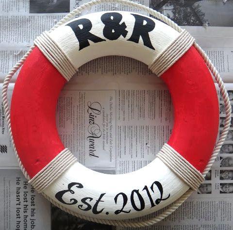DIY nautical life preserver. Lots of other good nautical Diys.