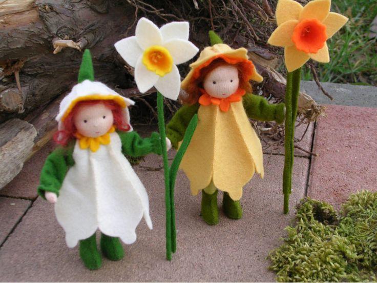 Daffodil felt, vilt narcis popje