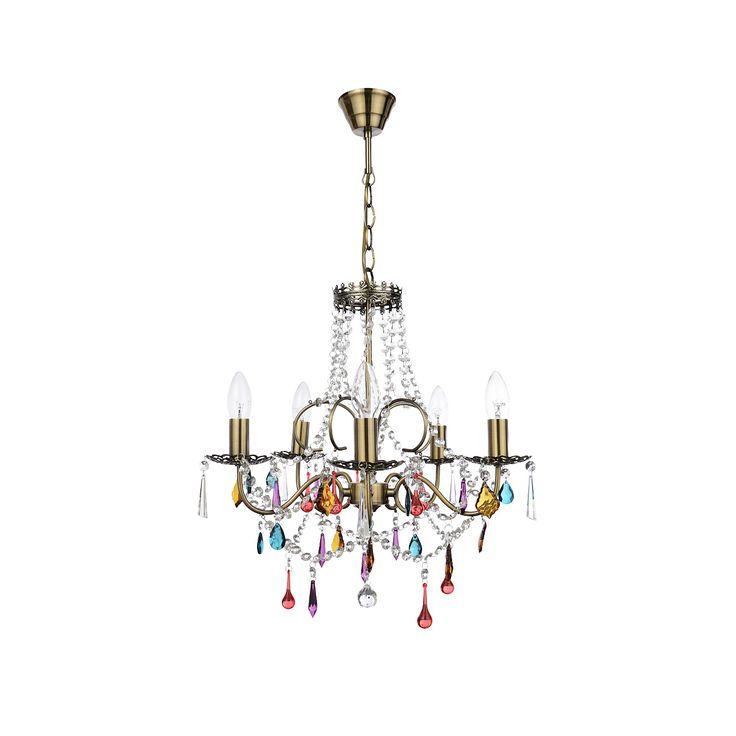 Inlight Multicoloured Chandelier | Lighting | ASDA direct