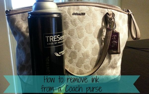 How to remove ink from a coach purse.... I'll be needing this for the bag I got.