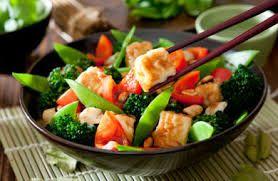 Makanan yang satu ini namanya Vegetable sea food , perpaduan brocoli hijau dan sea food , Yummy...