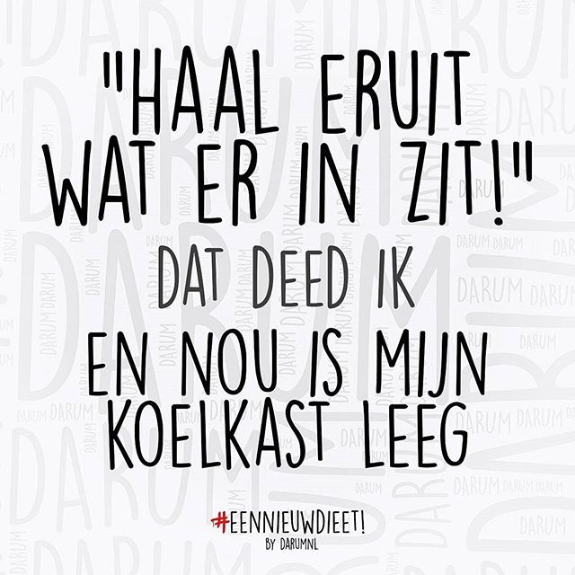 Fijn weekend! #darum Via mijn 2de account: @eennieuwdieet