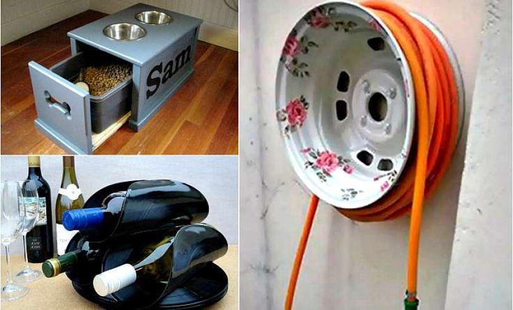 Conversión de basura en cosas útiles para el hogar y el jardín