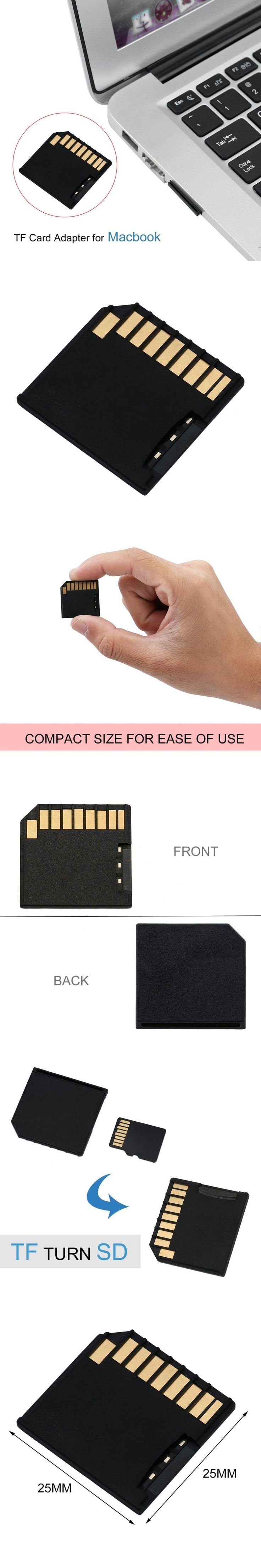Useful Mini Short SDHC TF Card Memory Adapter Drive For Macbook Air Up to 64G