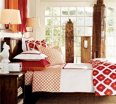 like these colors: Bedding, Idea, Red, Color, Dream, Duvet Cover, Master Bedroom, Bedrooms, Pottery Barn