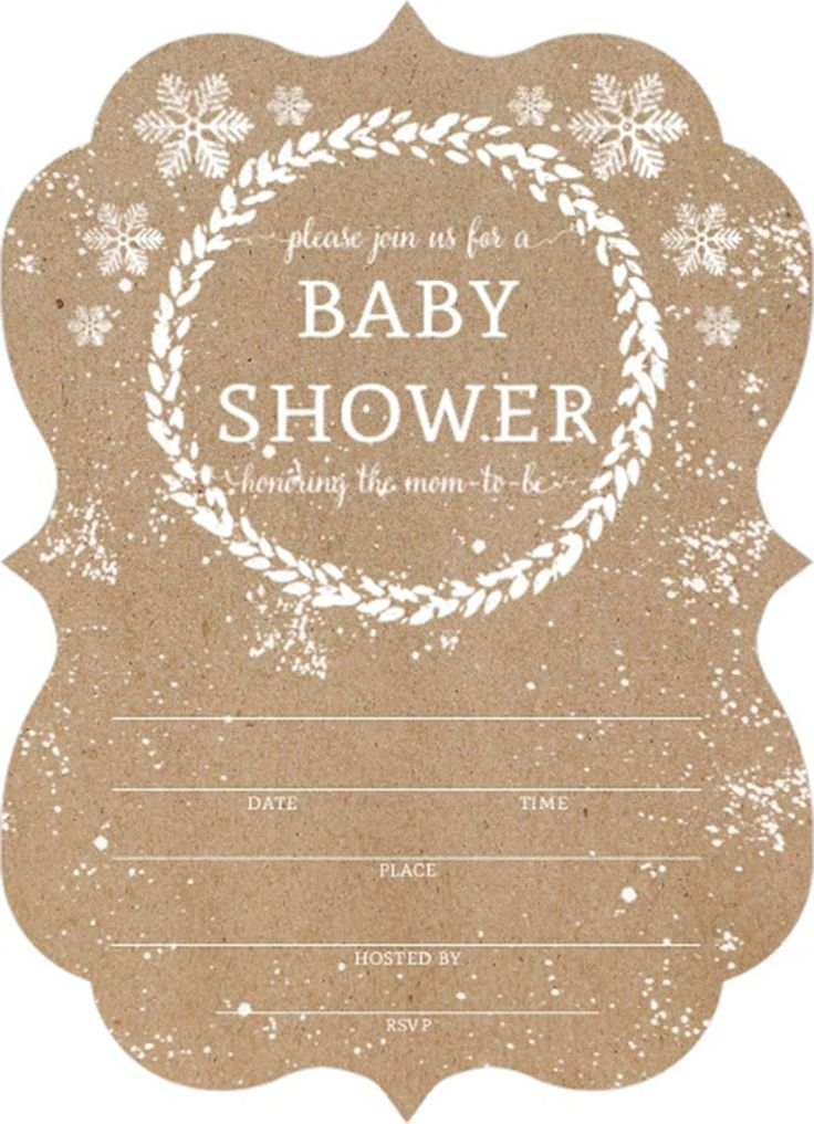 snowfall fill in blank baby shower invitation scallop baby shower