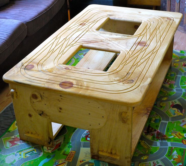 Train coffee table via etsy cnc projects pinterest coffee etsy and trains Train table coffee table