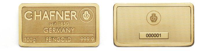 C.HAFNER Goldbarren Seriennummer