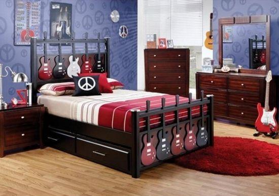 Kinderzimmer Gitarre Bett Design-Ideen