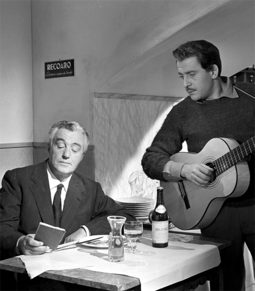 Vittorio De Sica and Domenico Modugno