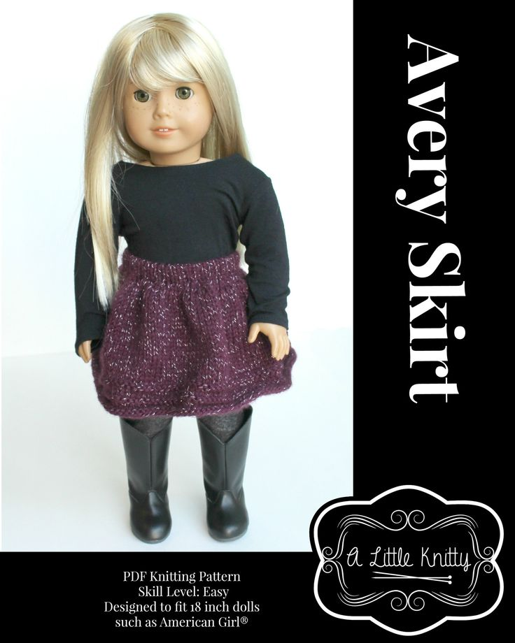 71 mejores ideas en American Girl Knitting Patterns en Pinterest ...