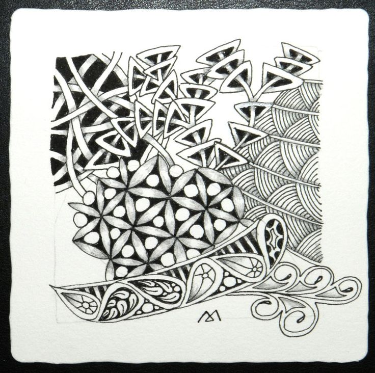 zentangle tile template - 17 best images about tangle rixty on pinterest
