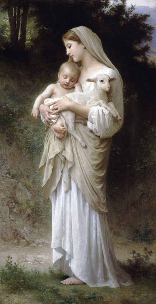 @Innocence by William-Adolphe Bouguereau