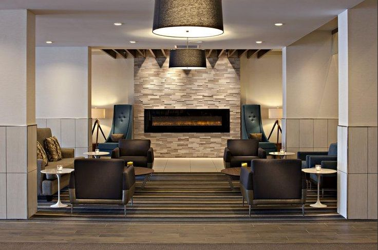 The lobby of the Delta Hotel Winnipeg is sleek, warm and inviting