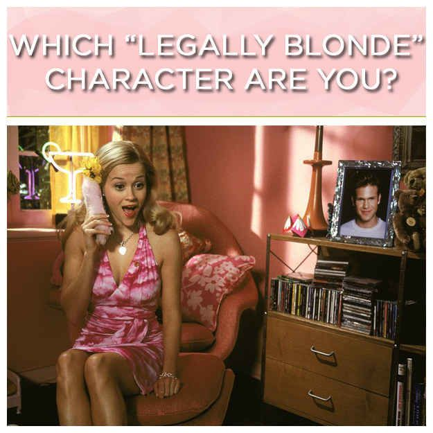 "Which ""Legally Blonde"" Character Are You I got the ""Beyoncé of the law world"" Professor..."