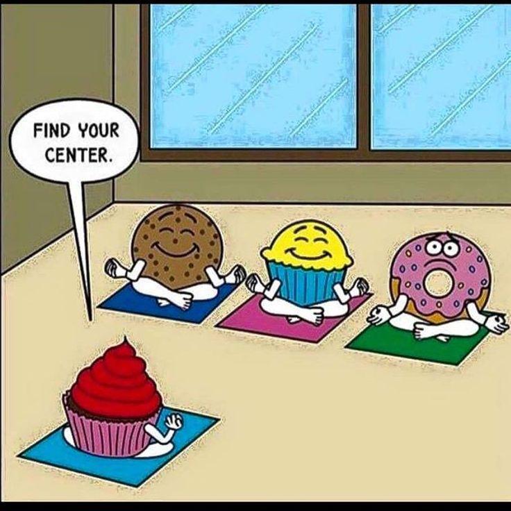 Namaste #innerpeace #mmmmmmm #meditate #findyourcenter #cakehumor #cakesndessertsbymonica