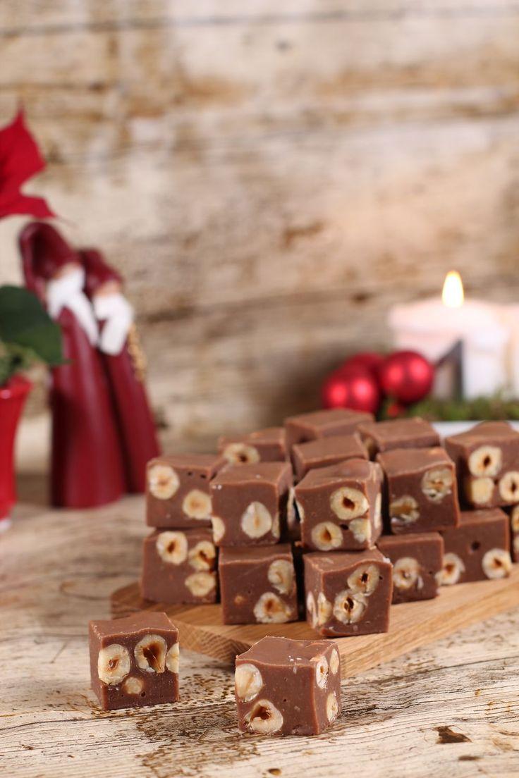 Nougatfudge med rostade hasselnötter - CakeByMary.blogg.se