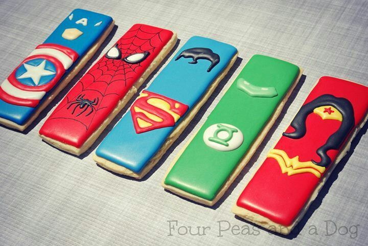 Superhero Cookie Sticks | Four Peas And A Dog