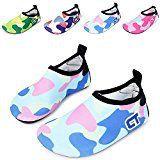 #5: WXDZ Kids Water Shoes Swim Shoes Mutifunctional Quick Drying Barefoot Aqua Socks for Beach Pool