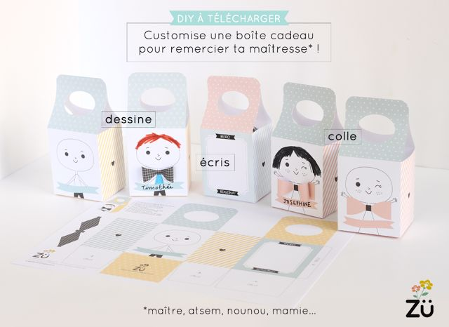 zü: Un DIY spécial Merci maîtresse, maître, atsem, nounou, mamie...