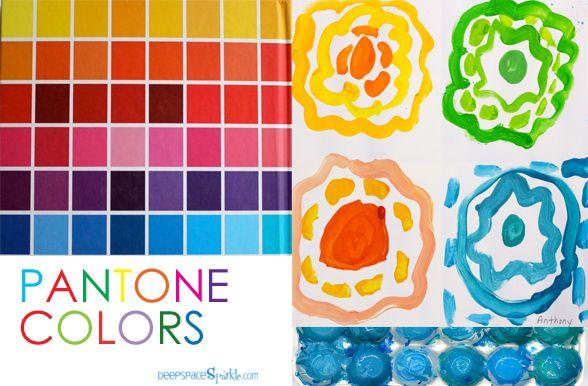 Pantone Color art project: Pantone Colors, Art Books, Grade Art, Colors Mixed, Deep Spaces Sparkle, Colors Art Lessons, Colors Ideas, Pantone Art Projects, 2Nd Grade