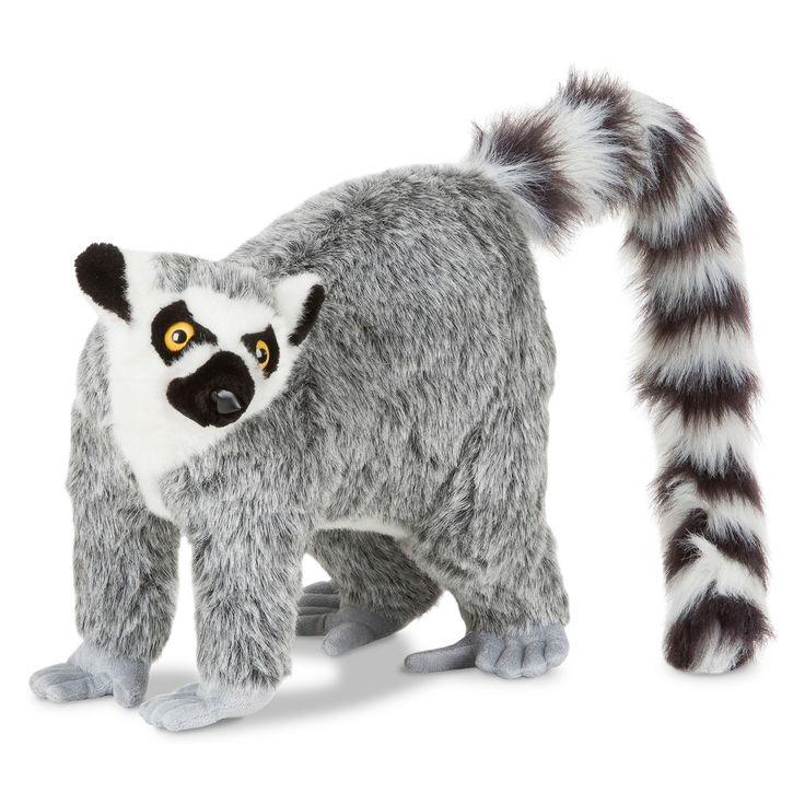 Melissa & Doug Lemur Plush Lemur, Sloth plush, Narwhal