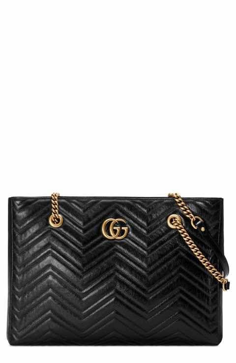 6481a0c8a13f Gucci GG Marmont 2.0 Matelassé Medium Leather East/West Tote Bag ...