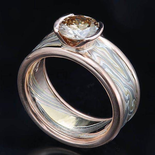 Stunning palladium over sterling silver ring