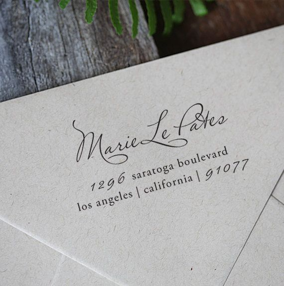 Self Inking Rubber Address Stamp - Personalized - cute birthday or housewarming gift - a1030. $29.95, via Etsy.