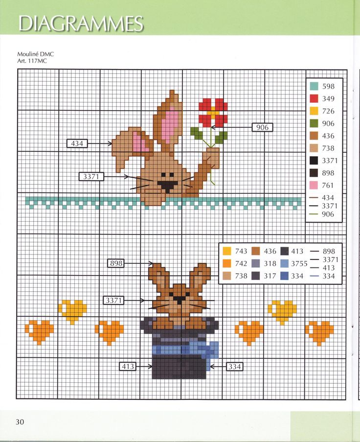 bunnies cross stitch. Punto cruz conejos