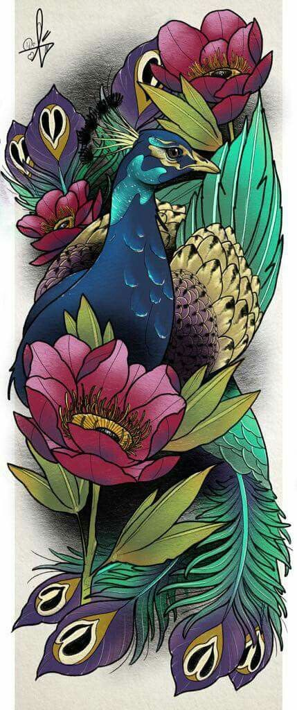 This without the peacock maybe something else but similar colors..