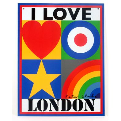Peter Blake I Love London Limited Edition Tin Plate