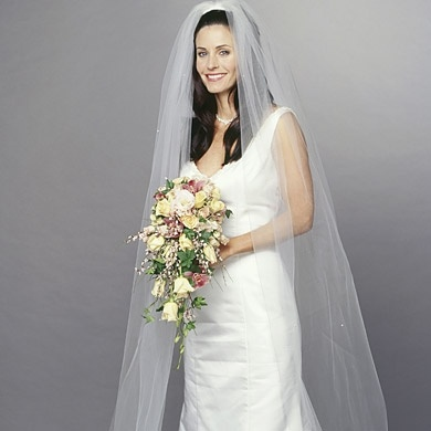 Monica Wore A House Of Bianchi Wedding Dress In The One With Monica And Chandlers Wedding