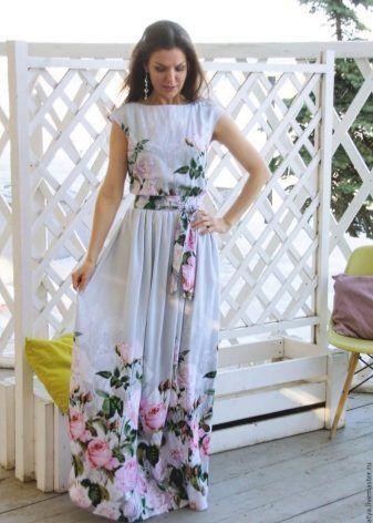 Красивые летние платья в пол фото