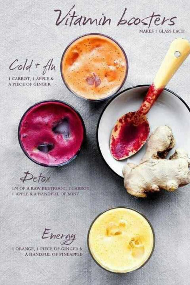 Vitamin Booster #Juice Recipes- Always be mindful that fresh juice contains lots of natural sugars.