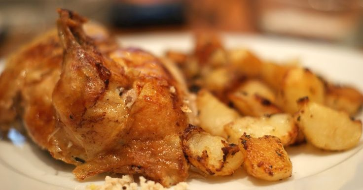 kylling, chicken, rosmarin, bakte poteter, bagte kartofler, hovedret, weekendmat, helgmat, weekendmad, weekendmenu, helgmenu