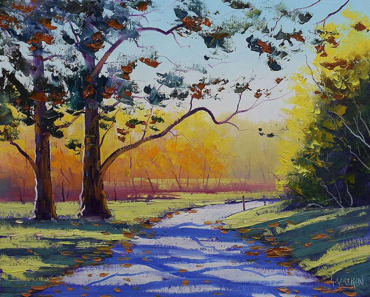 Autumn Painting, Original Oil Painting, Autumn leaves, fall painting,  by  Graham Gercken by landscapesAndSea on Etsy