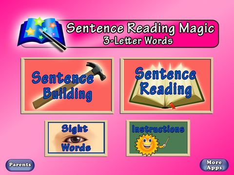 Sentence Reading Magic Deluxe for Schools-Reading Short Vowel CVC words by PRESCHOOL UNIVERSITY