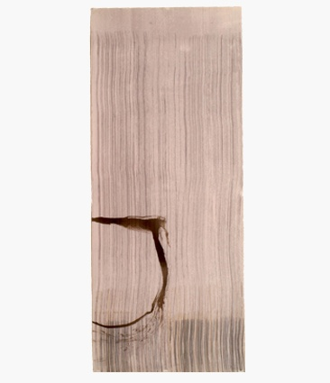John Cage, New River Watercolor Series III, #3, 1988, 36 x 15 in.