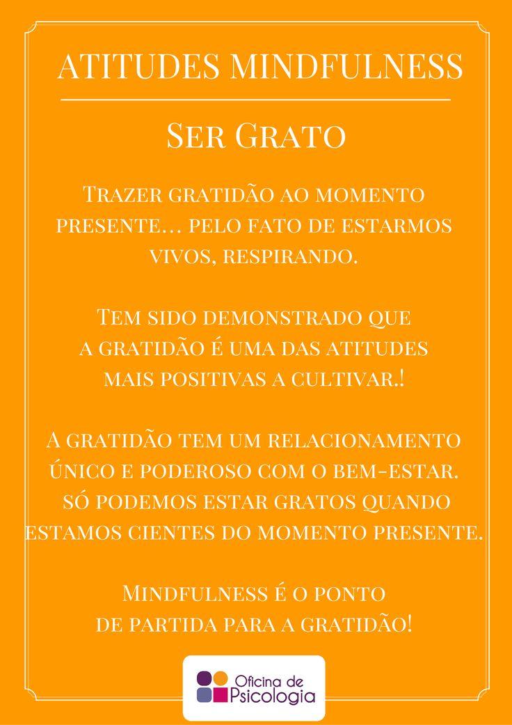 Atitudes mindful: gratidão