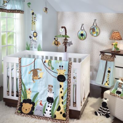 Buy Lambs Amp Ivy 174 Peek A Boo Jungle 5 Piece Crib Bedding