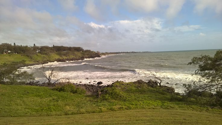 Calm before the storm. View from Coral Cove Bundaberg before Cyclone Marcia #cyclonemarcia #marcia #frequenttraveller