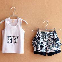 Verão roupas de camuflagem camuflagem colete de algodão sem mangas colete + Short de $number peças(China (Mainland))