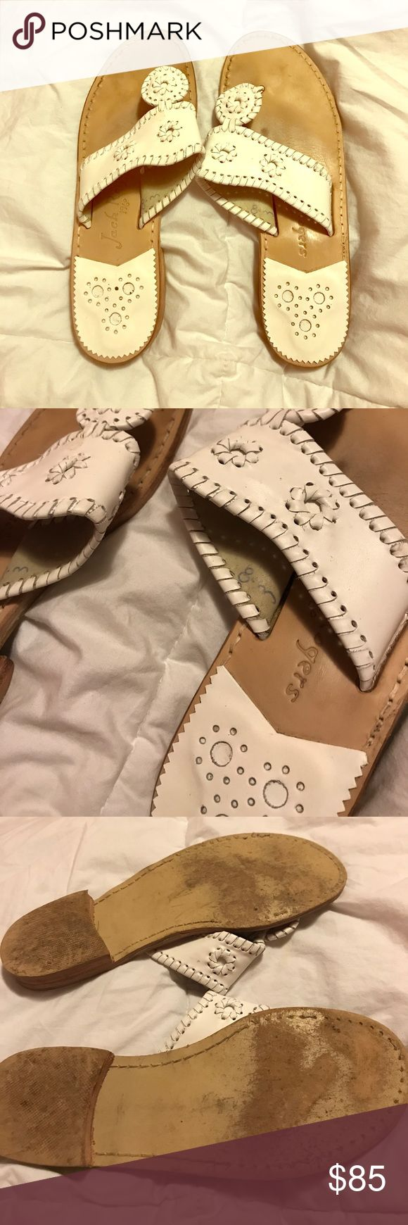 White Jack Rogers Palm Beach Navajo Sandal Size 8 white Jack Rogers! Been worn less than 5 times Jack Rogers Shoes Sandals