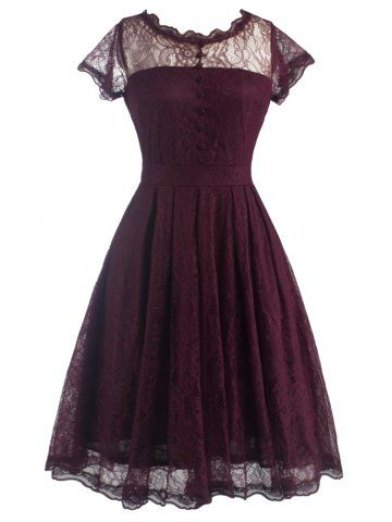 GET $50 NOW | Join RoseGal: Get YOUR $50 NOW!http://www.rosegal.com/vintage-dresses/retro-lanciness-back-v-dress-643253.html?seid=8569013rg643253